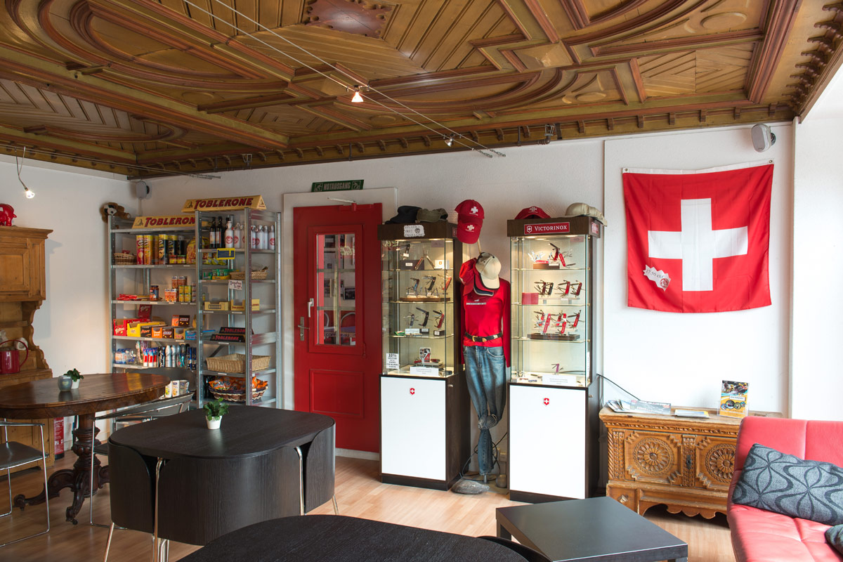 shop at balmers hostel interlaken