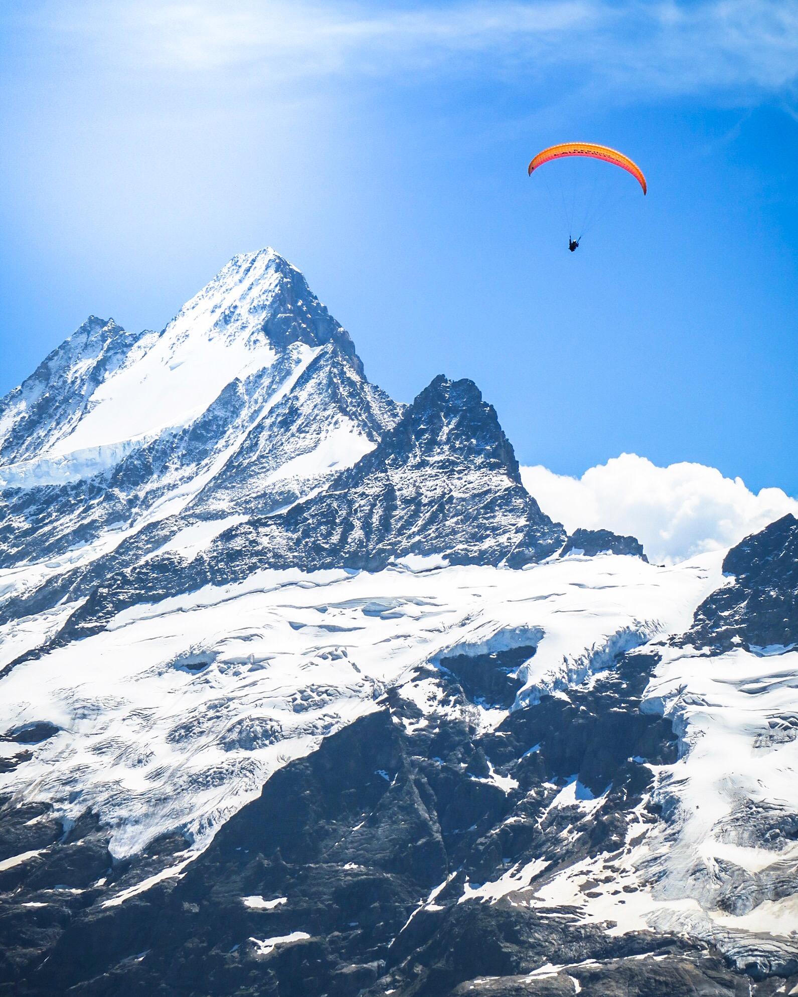Paragliding Winter - Best outdoor activities, Interlaken