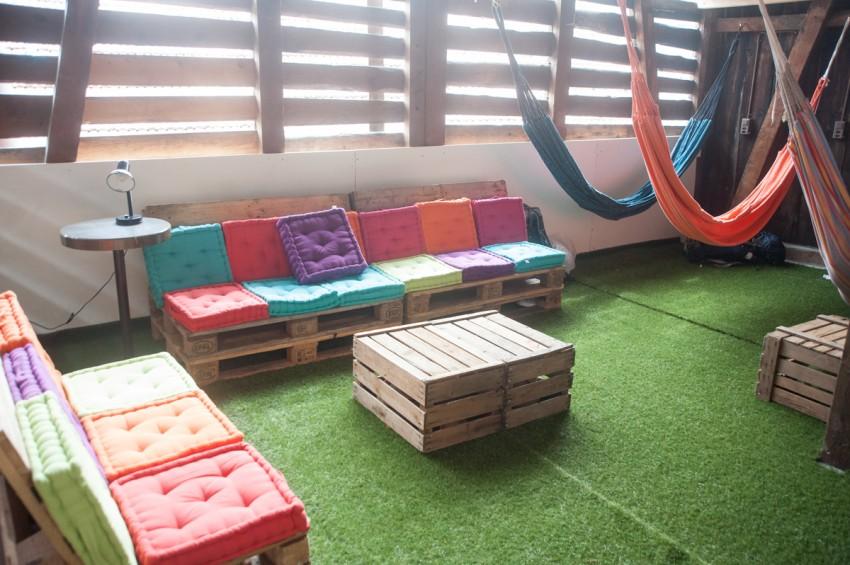 cozy color seats chii hostel