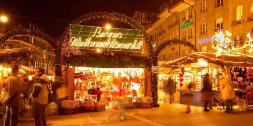 Christmas Market Around Interlaken Balmers Hostel