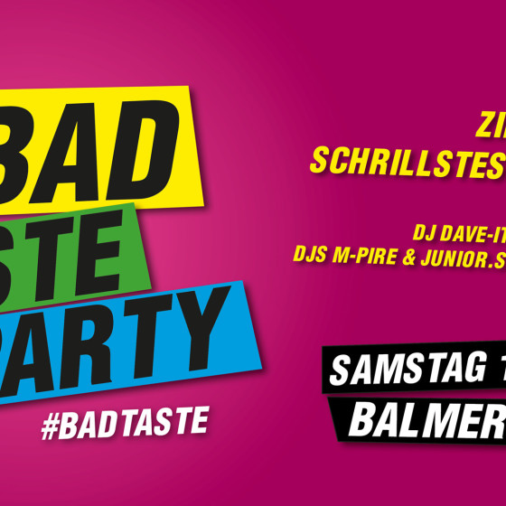 sat 18 mar bad taste party balmers hostel camping nightclub. Black Bedroom Furniture Sets. Home Design Ideas