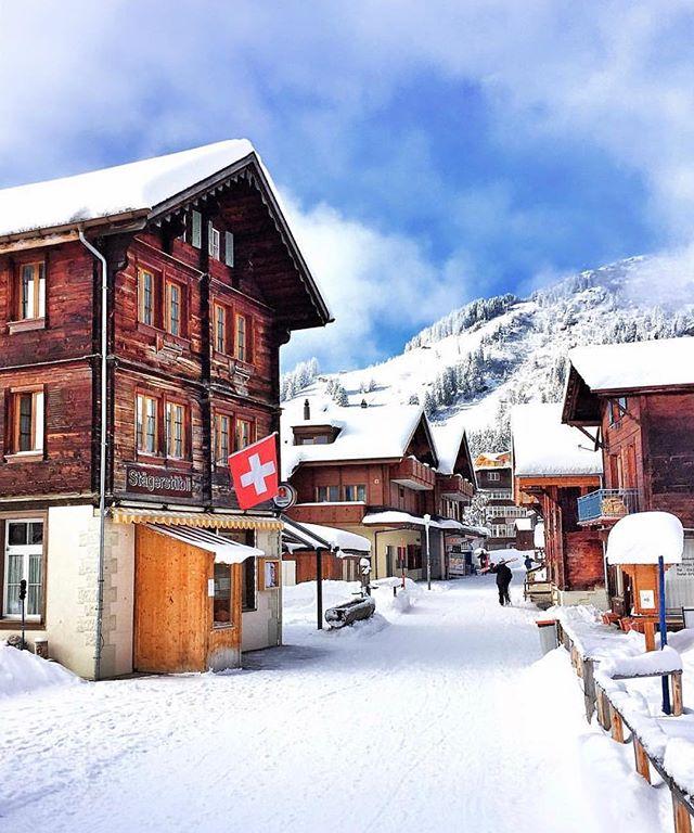 Magnificent Beautiful Swiss Villages Under The Snow Balmers Hostel Interior Design Ideas Skatsoteloinfo